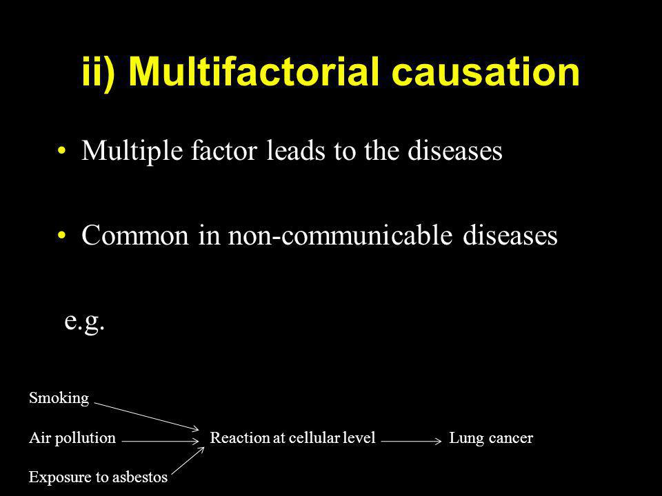 ii) Multifactorial causation
