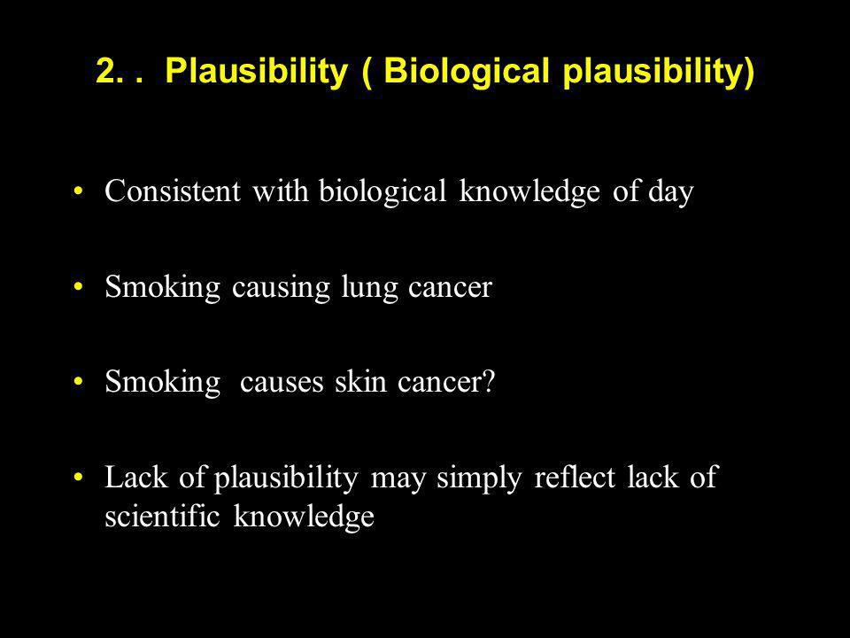 2. . Plausibility ( Biological plausibility)