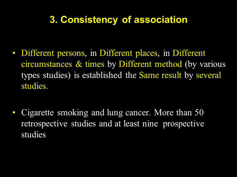 3. Consistency of association