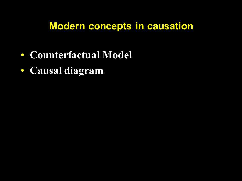 Modern concepts in causation