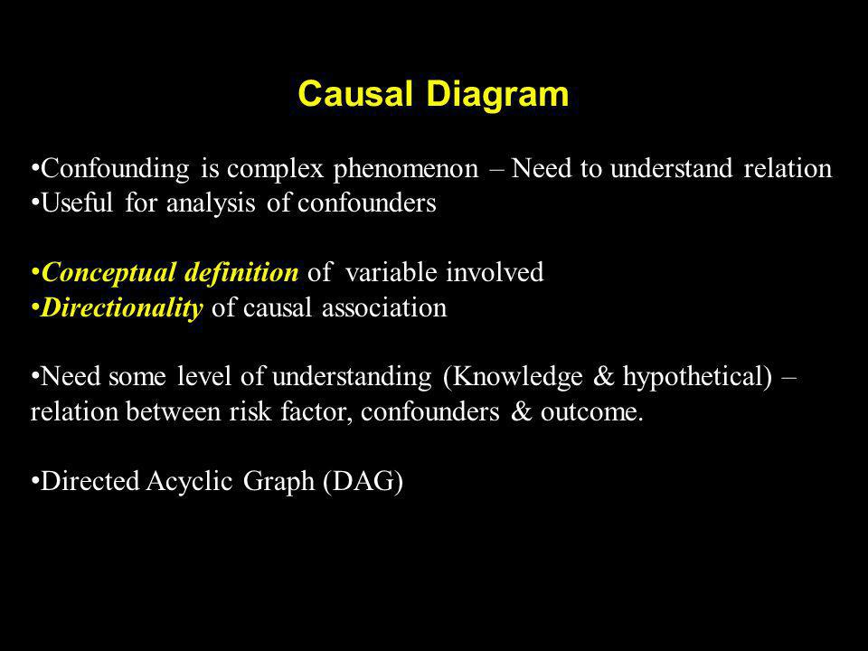 causal diagram dag association & causation - ppt video online download #8