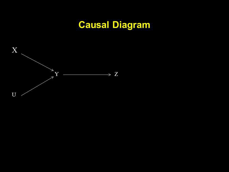 Causal Diagram X Y Z U