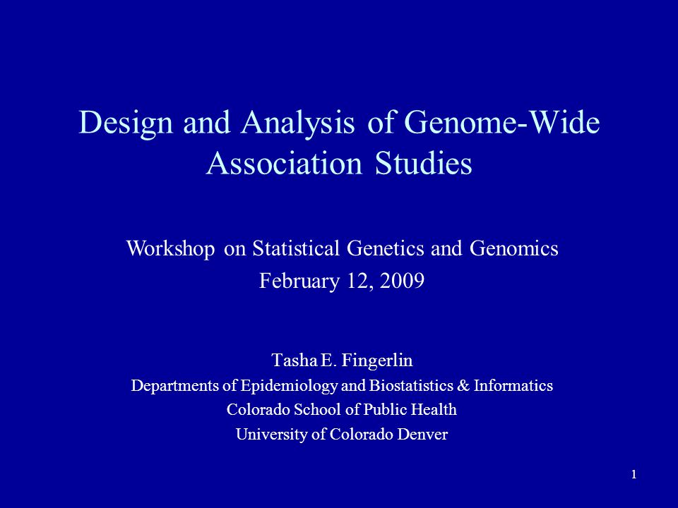 Design and Analysis of Genome-Wide Association Studies