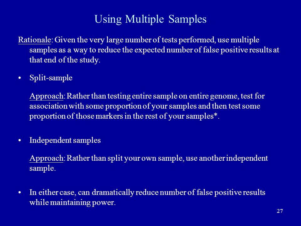 Using Multiple Samples