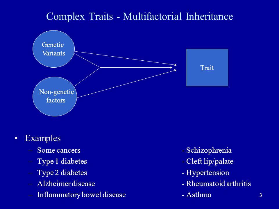 Complex Traits - Multifactorial Inheritance