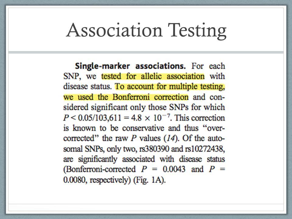 Association Testing