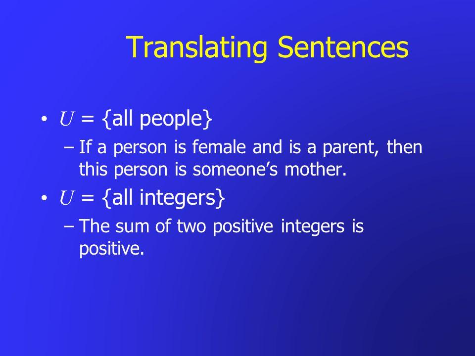 Translating Sentences