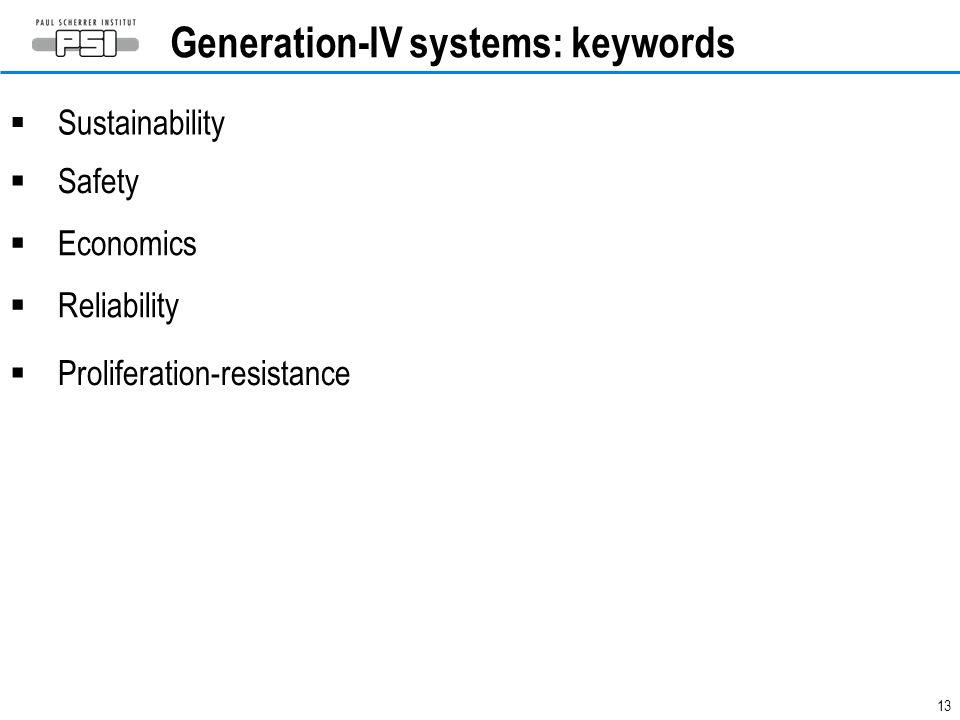 Generation-IV systems: keywords