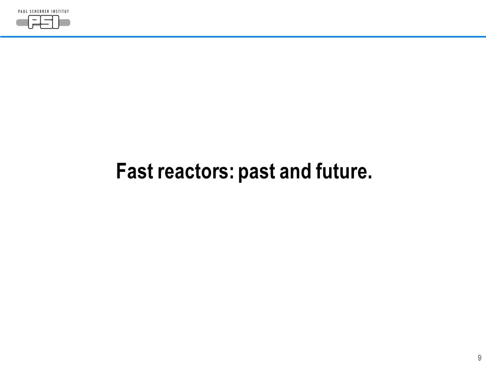 Fast reactors: past and future.