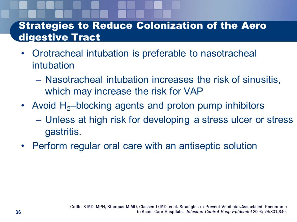 Strategies to Reduce Colonization of the Aero digestive Tract