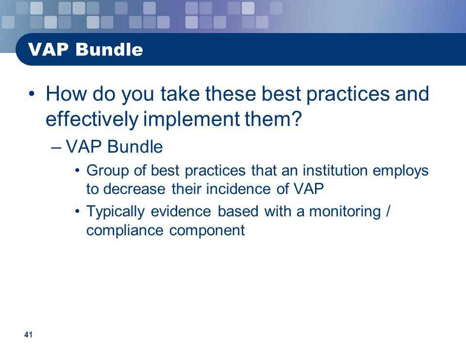 How do you take these best practices and effectively implement them