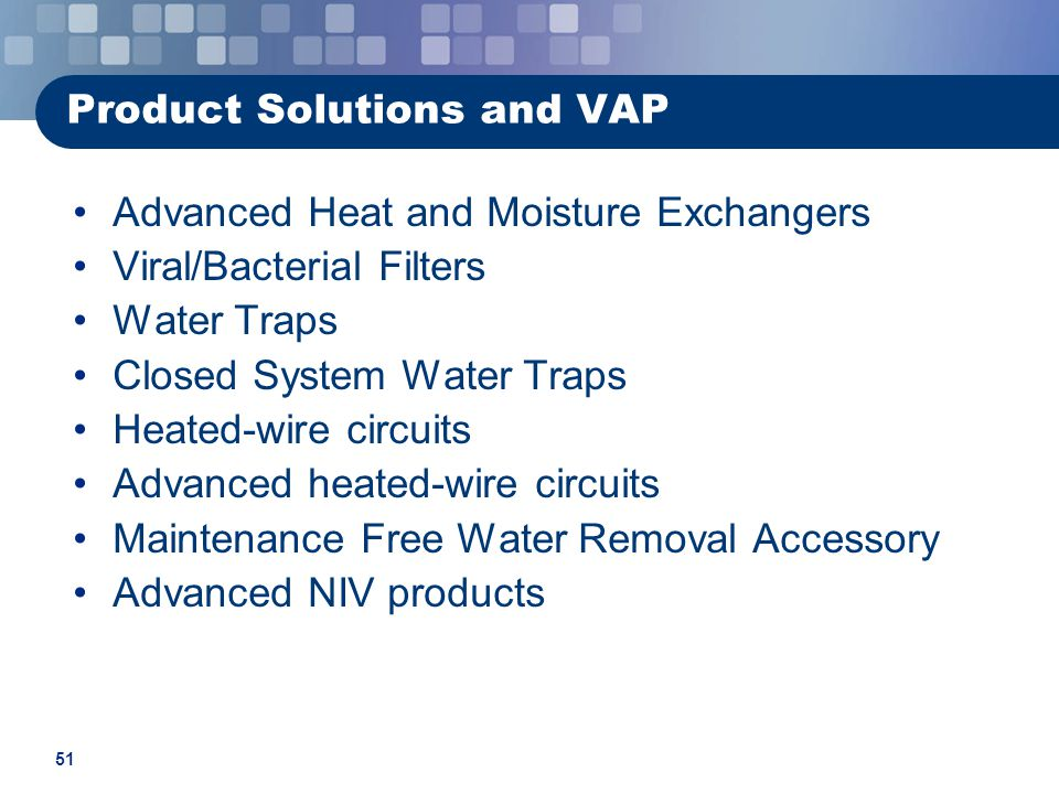Product Solutions and VAP