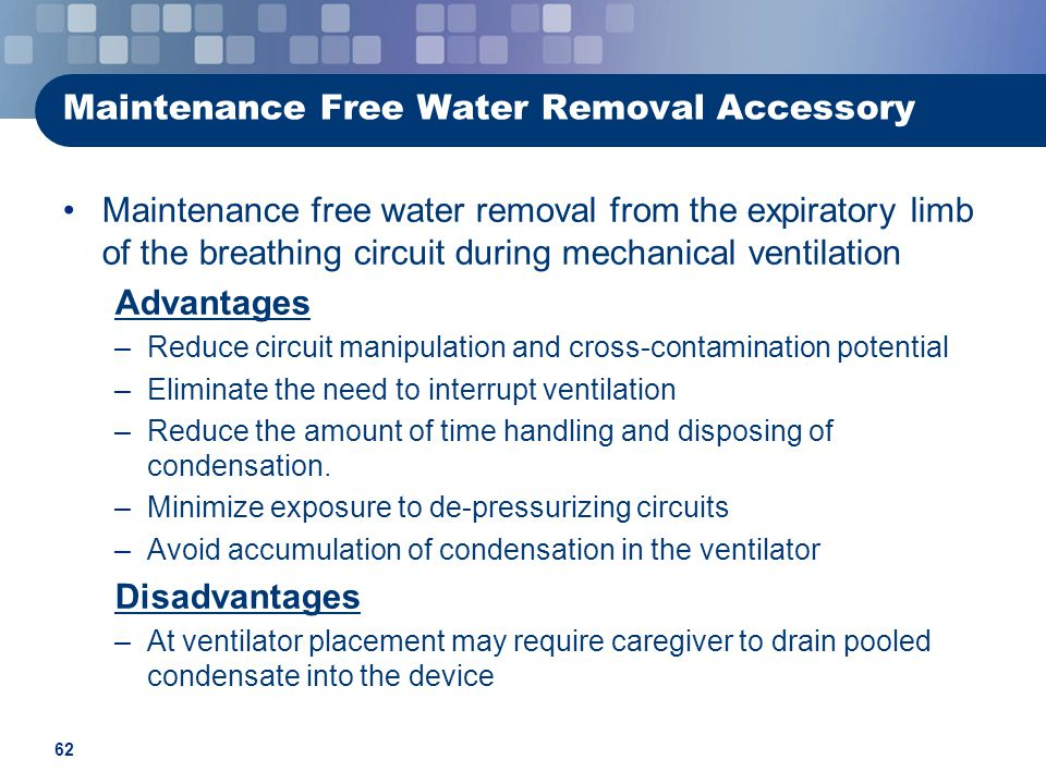 Maintenance Free Water Removal Accessory
