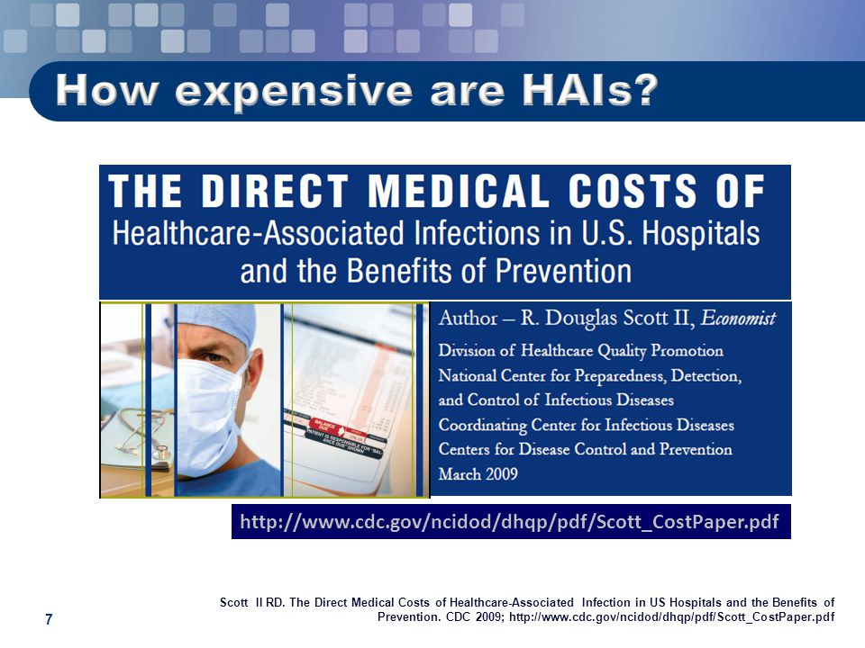 Attributable cost of vap infections