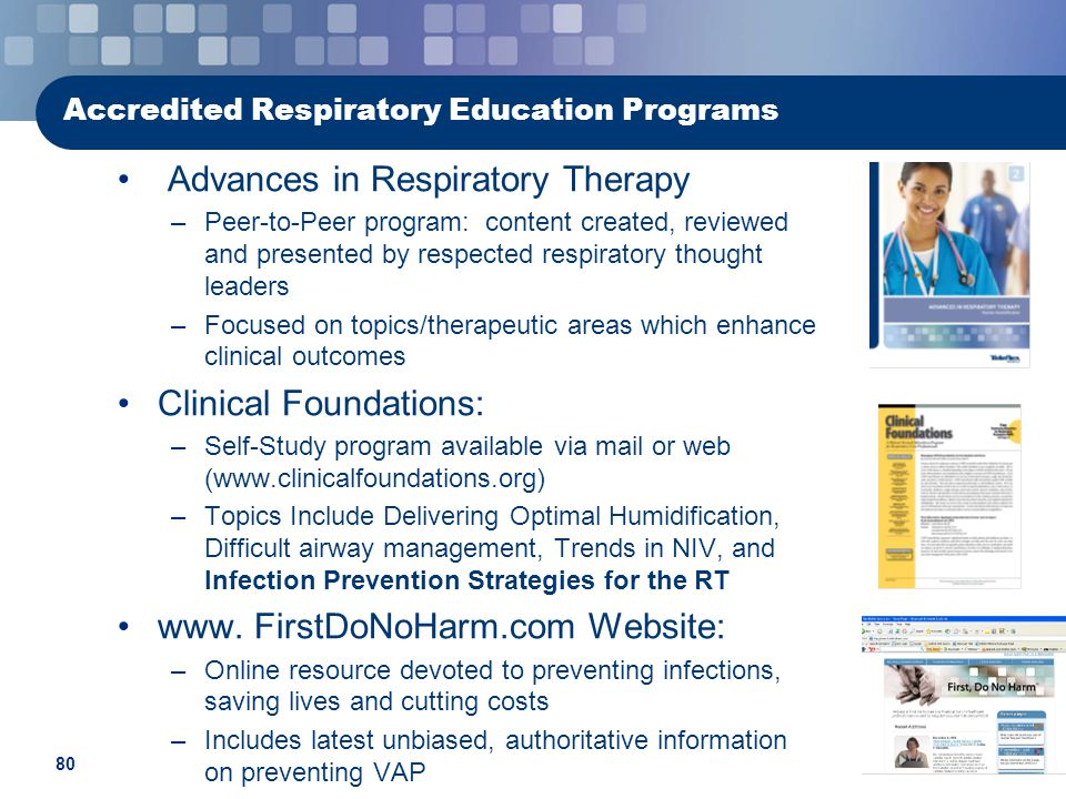 Accredited Respiratory Education Programs