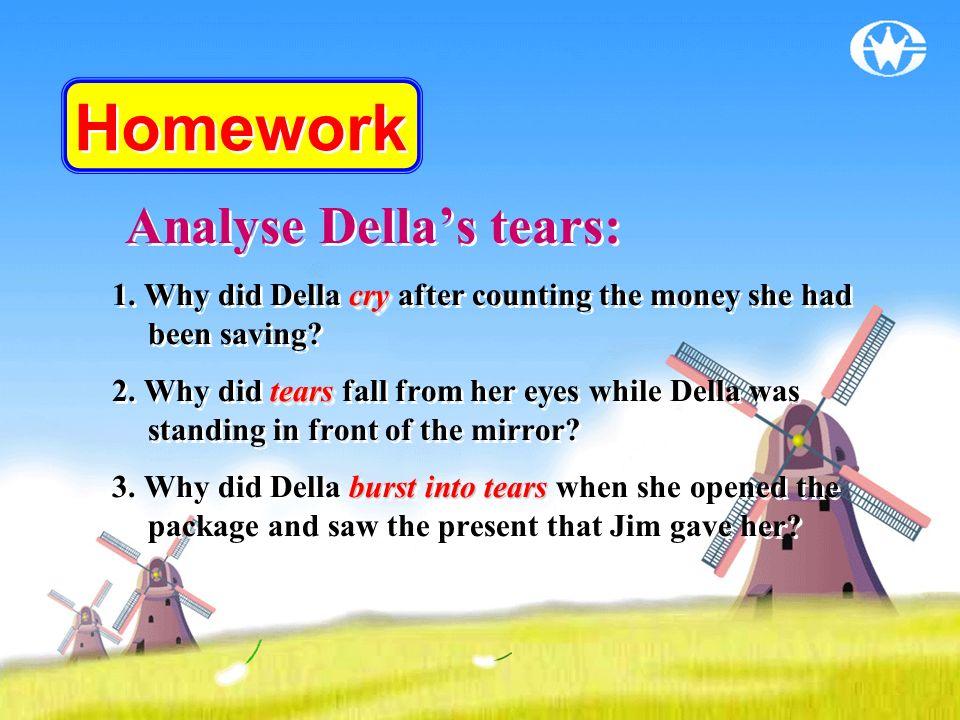 Homework Analyse Della's tears:
