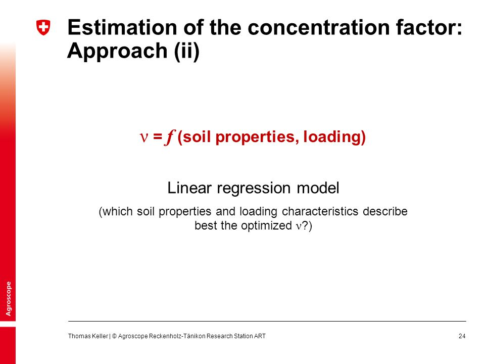 Estimation of the concentration factor: Approach (ii)