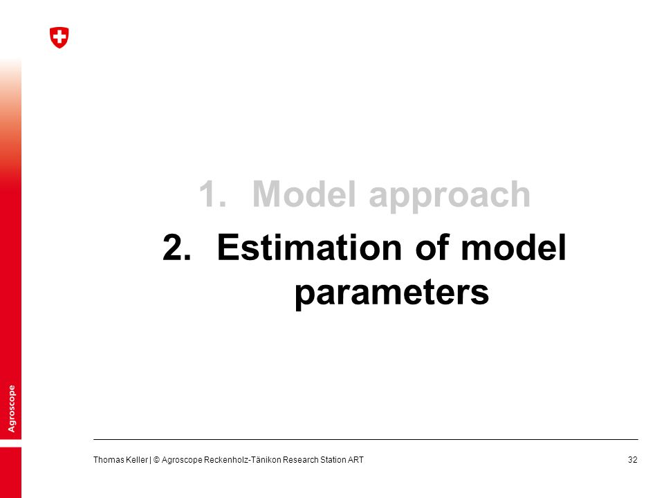 Estimation of model parameters