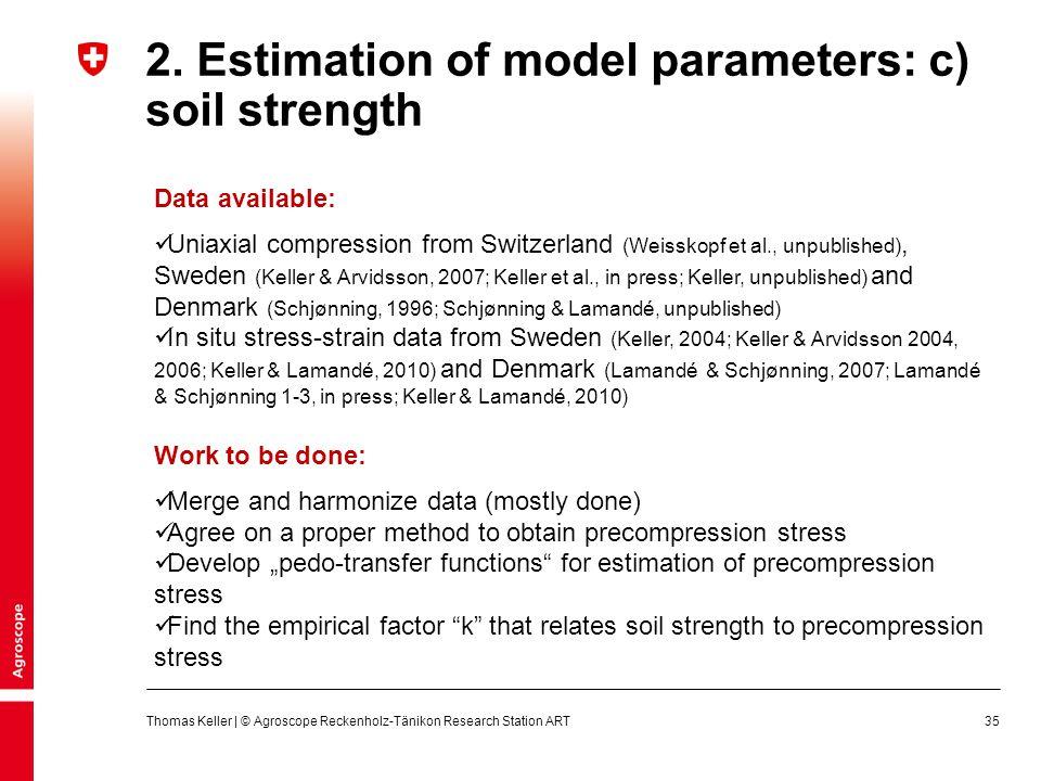 2. Estimation of model parameters: c) soil strength