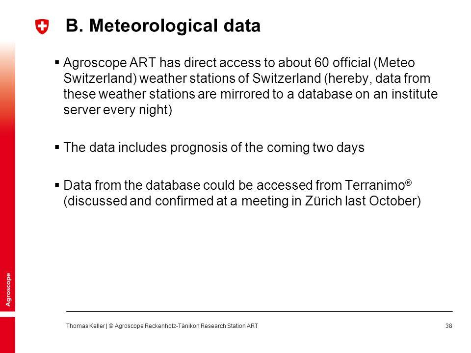 B. Meteorological data