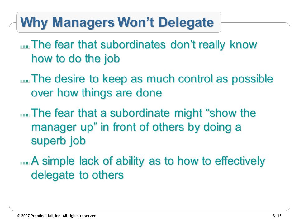 Why Managers Won't Delegate