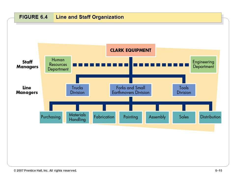 FIGURE 6.4 Line and Staff Organization