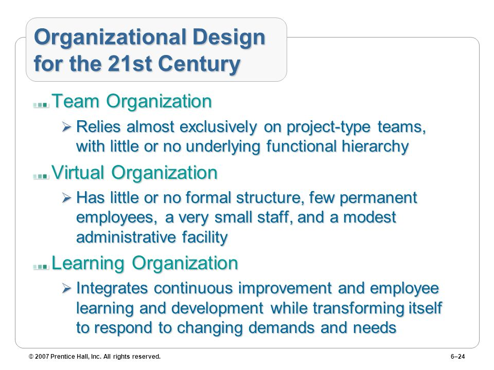 Organizational Design for the 21st Century
