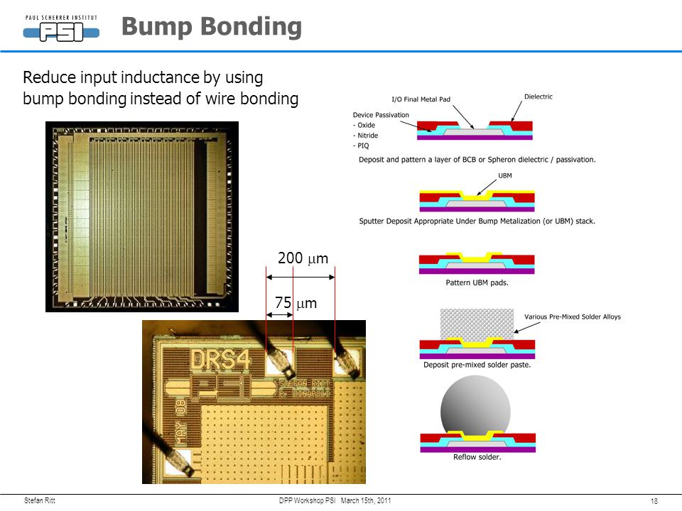 Bump Bonding Reduce input inductance by using
