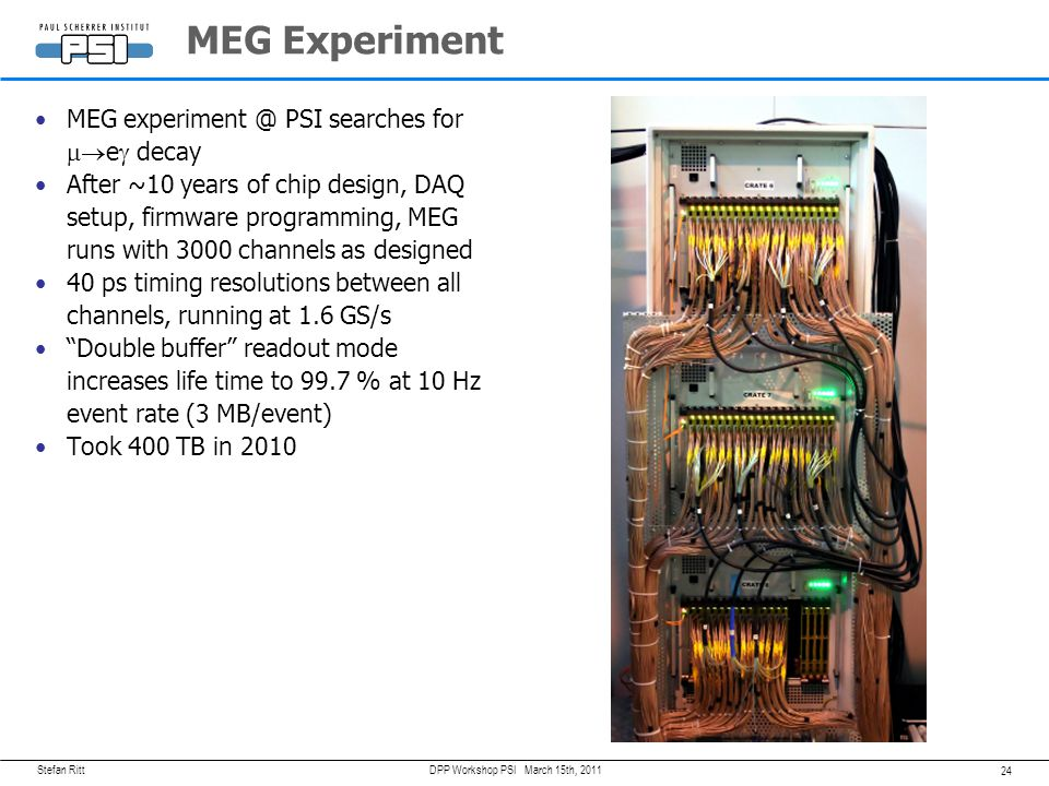 MEG Experiment MEG PSI searches for meg decay