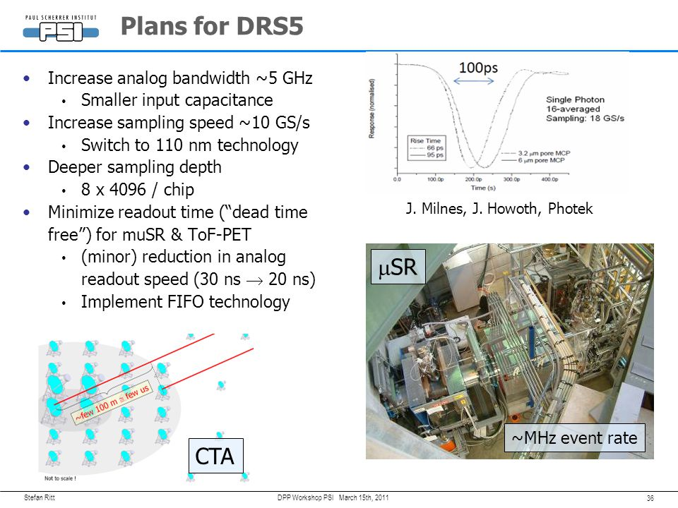 Plans for DRS5 mSR CTA Increase analog bandwidth ~5 GHz