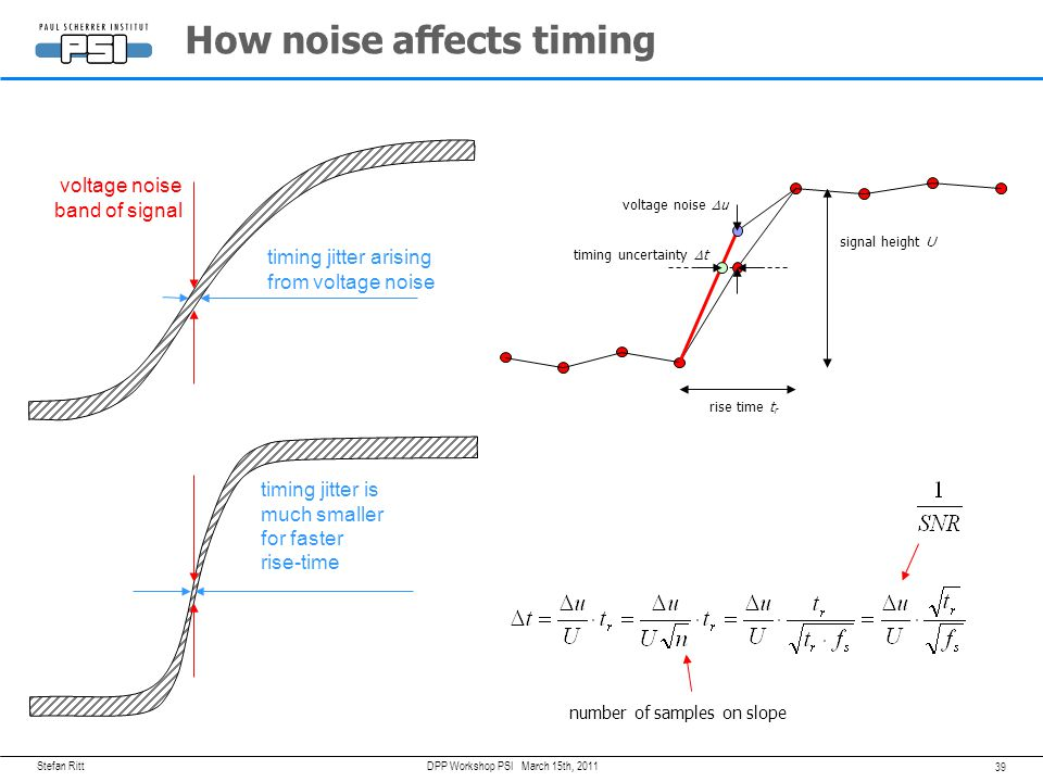 How noise affects timing