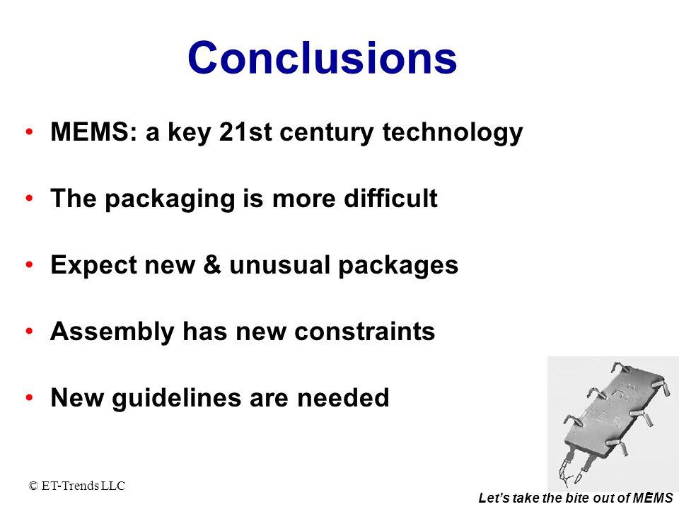 Conclusions MEMS: a key 21st century technology