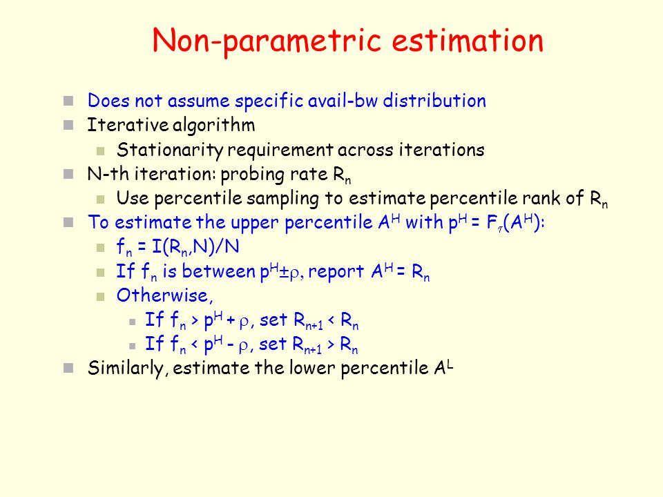 Non-parametric estimation