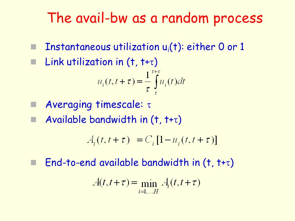 The avail-bw as a random process