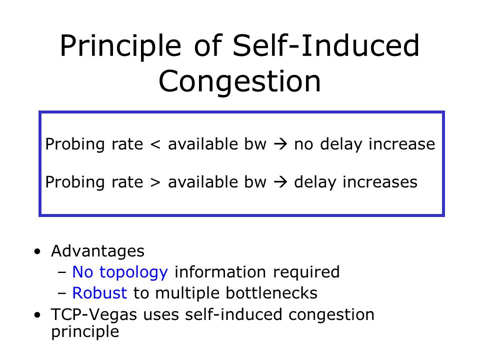 Principle of Self-Induced Congestion