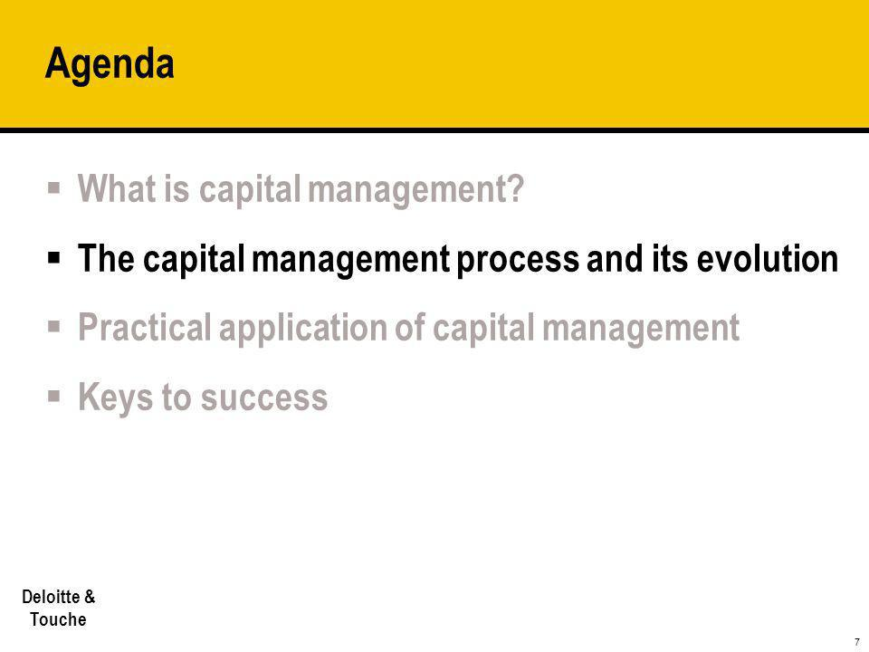 Agenda What is capital management