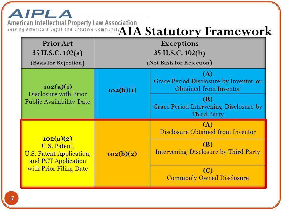 AIA Statutory Framework
