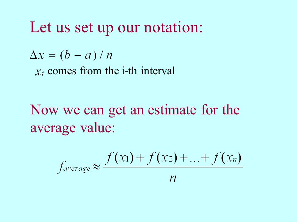Let us set up our notation: