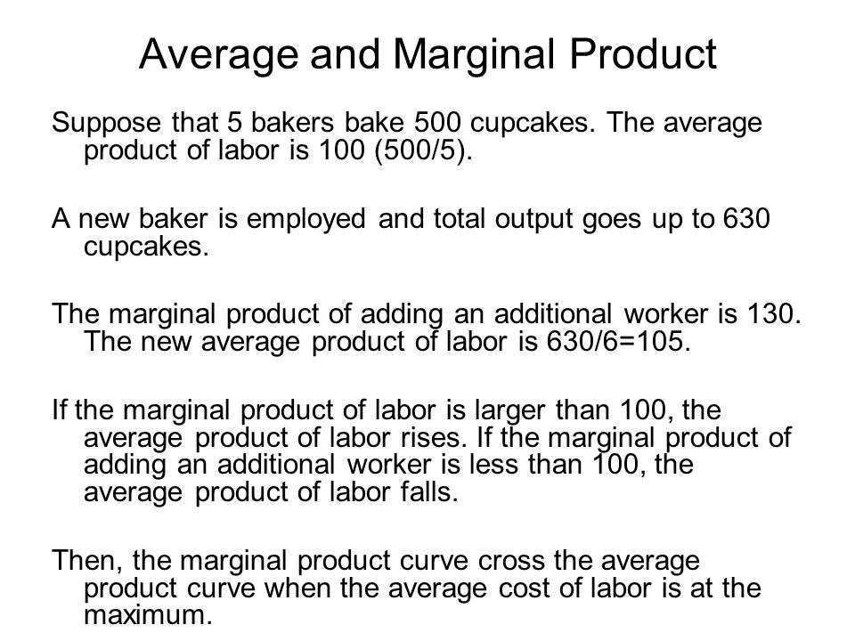 Average and Marginal Product