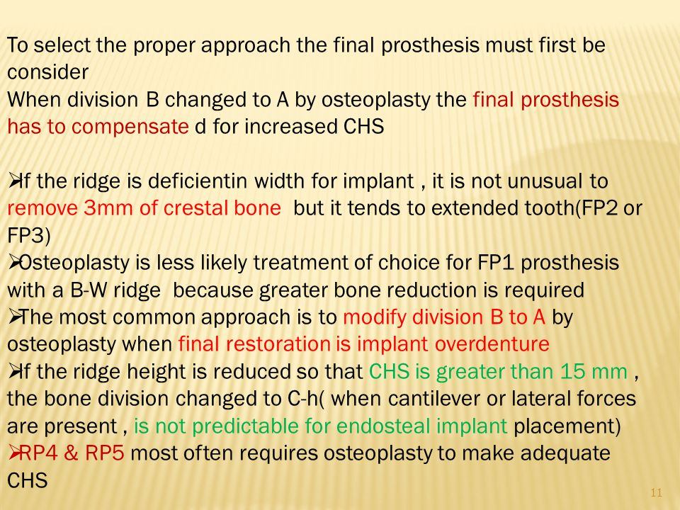 To select the proper approach the final prosthesis must first be consider