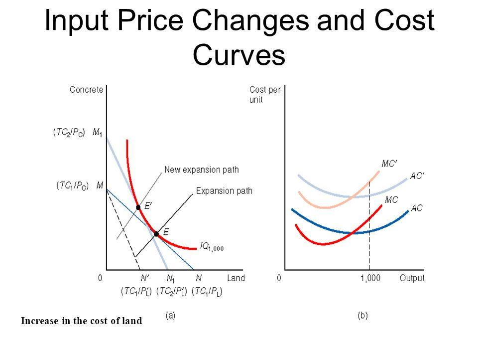 Input Price Changes and Cost Curves