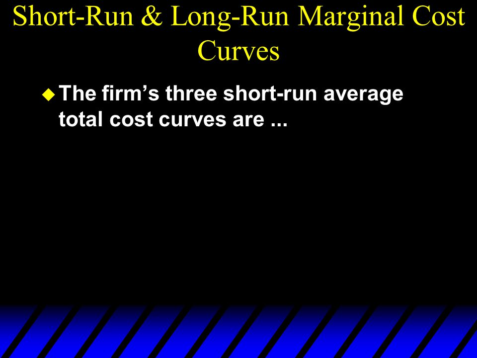 Short-Run & Long-Run Marginal Cost Curves