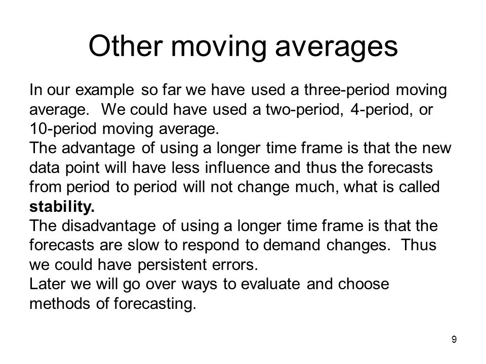 Other moving averages