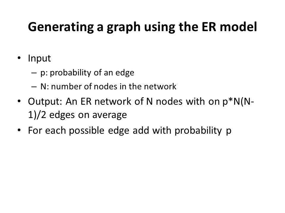 Generating a graph using the ER model