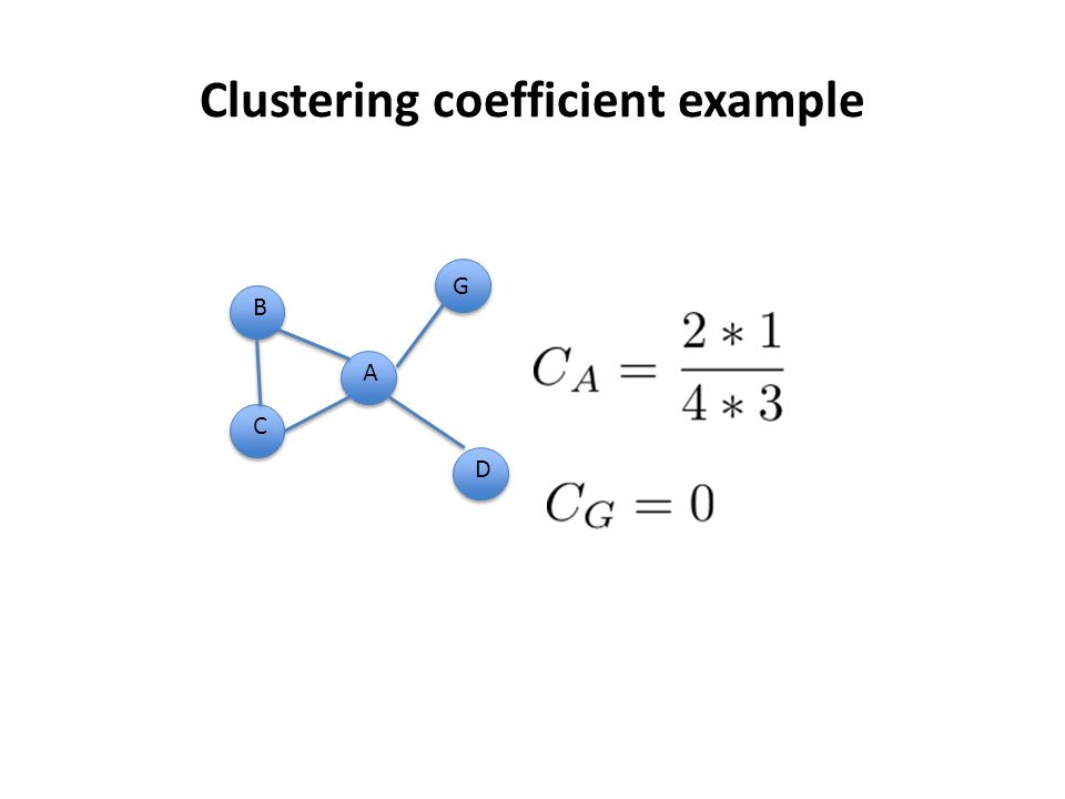 Clustering coefficient example