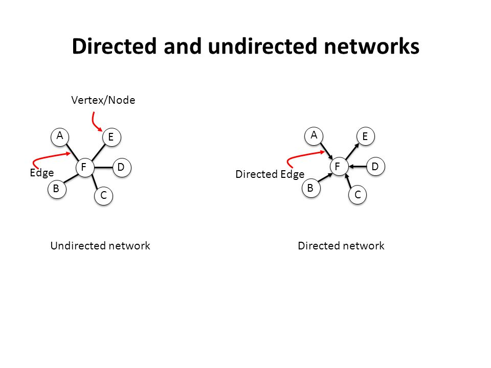 Directed and undirected networks