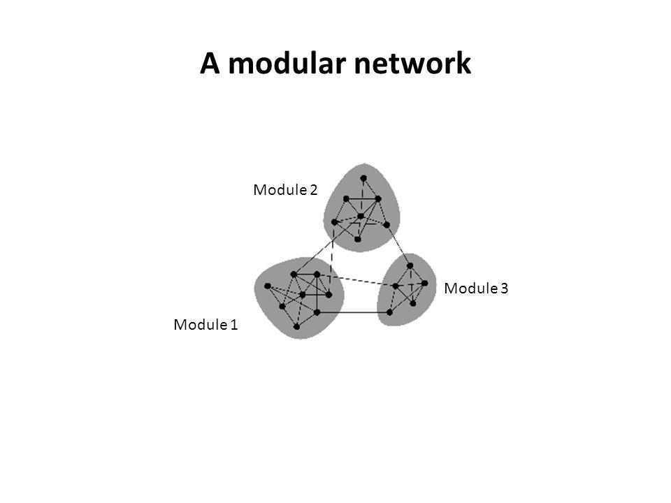 A modular network Module 2 Module 3 Module 1