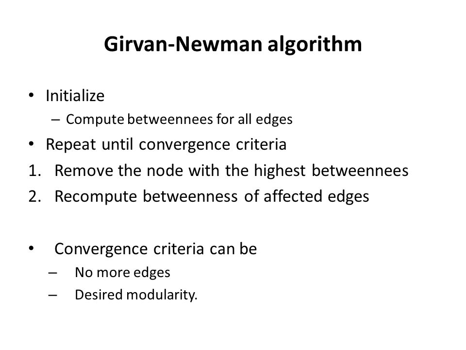 Girvan-Newman algorithm