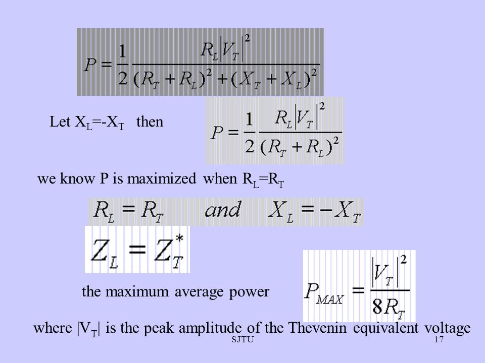 we know P is maximized when RL=RT
