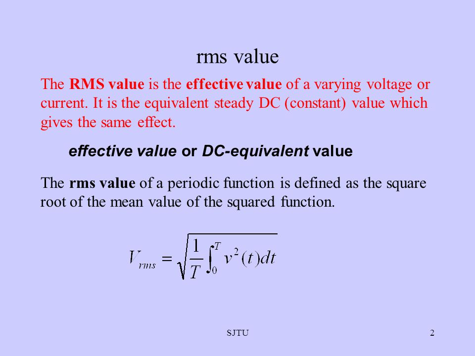 rms value